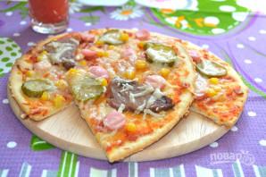 Пицца на ржаном тесте - фото шаг 10