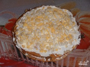 Блинный пирог с курицей, грибами и творогом - фото шаг 14