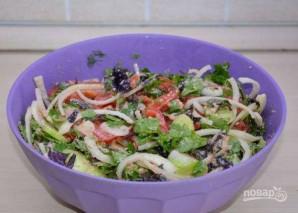 Овощной салат по-грузински с орехами - фото шаг 7