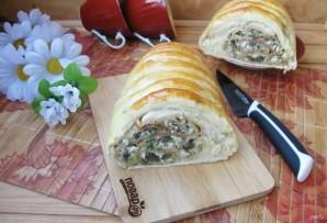 Кулебяка с грибами и яйцами - фото шаг 21