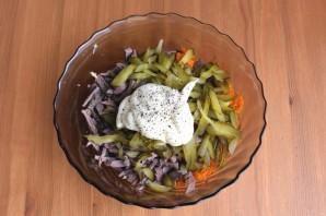 Салат с сердцем, морковью и луком - фото шаг 7