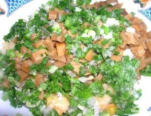 Салат по-деревенски с грибами - фото шаг 4