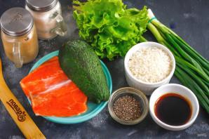 Боул с лососем и авокадо - фото шаг 1