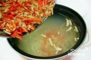 Суп грибной с плавленым сыром - фото шаг 8