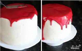 """Торт """"Вампир"""" на Хэллоуин - фото шаг 6"""
