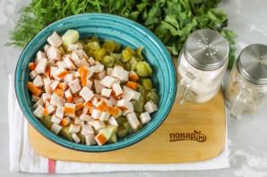 Салат с копченой курицей и картошкой - фото шаг 3