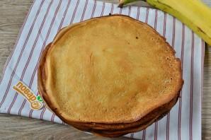 Блинный торт с грецкими орехами и бананами - фото шаг 7