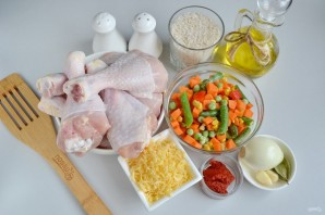 Куриные ножки, запеченные с рисом и овощами - фото шаг 1