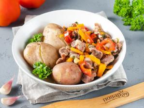 Куриные желудки с овощами - фото шаг 6