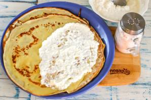 Блины с творожным сыром - фото шаг 6
