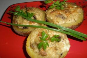 Картофель, запеченный с грибами и сыром - фото шаг 6
