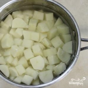 Картофельная запеканка с фаршем и грибами - фото шаг 9