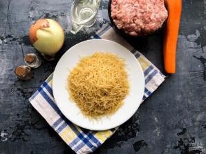 Жареная вермишель с мясом - фото шаг 1