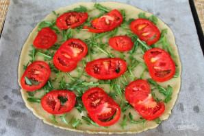 Пицца с рукколой и моцареллой - фото шаг 6