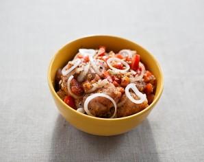 Рецепт шашлыка из курицы в чесночно-луковом маринаде - фото шаг 4