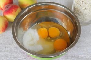 Овсяный пирог с персиками - фото шаг 2