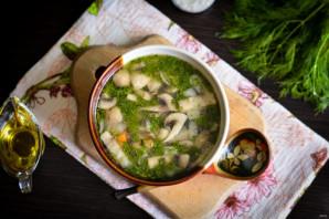 Грибной холодный суп на воде - фото шаг 7