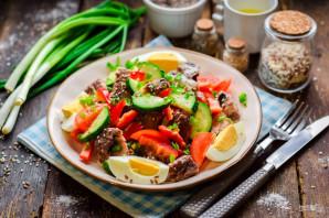 Диетический салат с тунцом - фото шаг 7