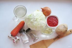 Щи с капустой и помидорами - фото шаг 1