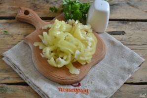 Капуста, маринованная с перцем и луком - фото шаг 2