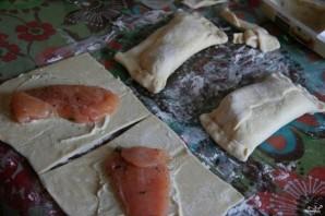 Пирожки с курицей и сыром в духовке - фото шаг 4