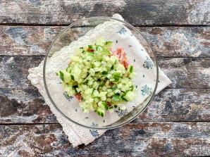 Салат с красной консервированной фасолью - фото шаг 3