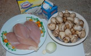Куриное филе с шампиньонами - фото шаг 1