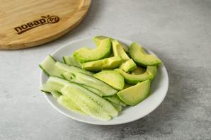 Салат с рукколой и тофу - фото шаг 7