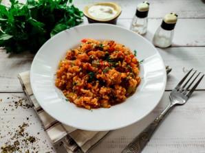 Овощное соте с рисом