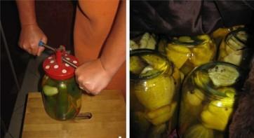 Патиссоны, консервированные с огурцами - фото шаг 4