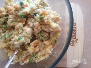 Картофельно-рыбные котлеты с овощами в духовке - фото шаг 8