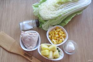 Салат с ананасом и пекинской капустой - фото шаг 1