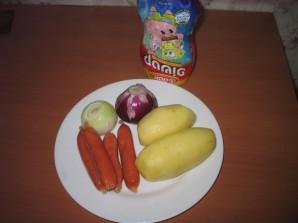 Картошка с сосиской - фото шаг 1