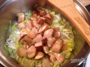 Луково-сельдерейный суп с грибами - фото шаг 3