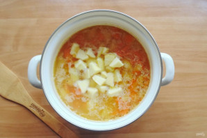 Гороховый суп с яблоками - фото шаг 6