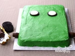 """Торт """"Франкенштейн"""" на Хэллоуин - фото шаг 3"""