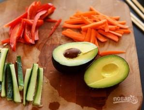 Суши вегетарианские - фото шаг 2