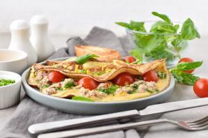 Омлет с тунцом и помидорами - фото шаг 8