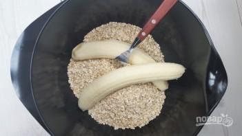 Овсяное печенье с бананом и сухофруктами - фото шаг 3