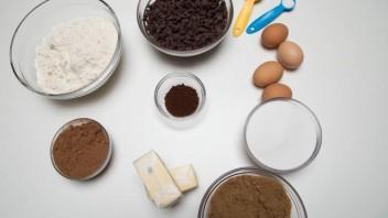 Шоколадно-кофейное печенье - фото шаг 1