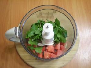 Зеленый коктейль с арбузом - фото шаг 3