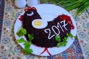 "Салат ""Петух"" на Новый год 2017 - фото шаг 7"