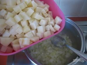 Овощной крем-суп с сухариками - фото шаг 4