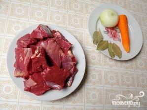 Сытный суп из телячьего сердца - фото шаг 1