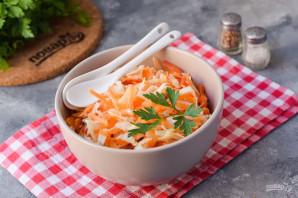 Салат из маринованной капусты с морковью - фото шаг 9