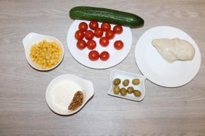 Салат с куриной грудкой и помидорами - фото шаг 1