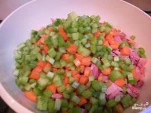 Салат с бобами и ветчиной - фото шаг 3