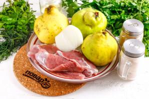 Айва фаршированная мясом - фото шаг 1