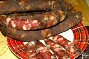 Колбаса сыровяленая - фото шаг 6