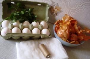 Красные яйца на пасху - фото шаг 1